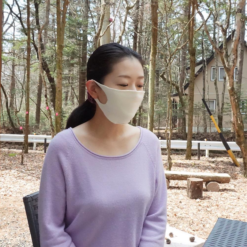 シルク/カシミヤのホールガーメント・マスク