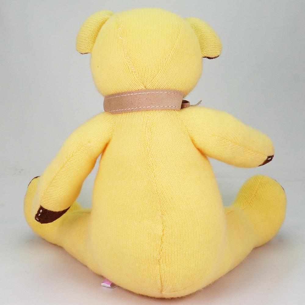 幸運をもたらすラッキーレモンイエロー色。カシミヤのレモン・パパベア【体長30cm】