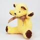 高級カシミヤ製ベビー・テディベア。幸運をもたらすラッキーレモンイエロー色のレモン・ベビーベア【15cm】