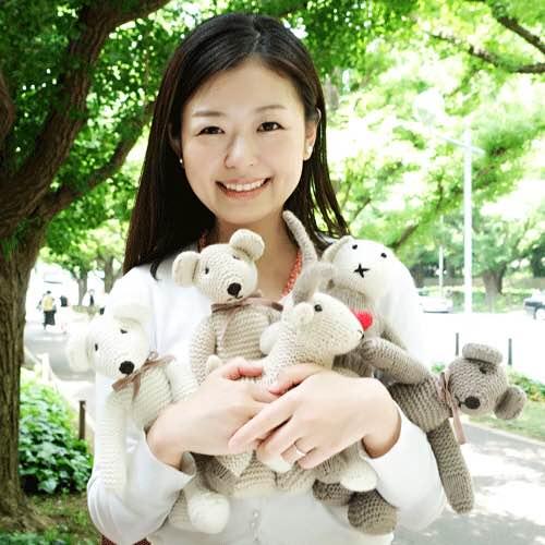 高級カシミヤの編みぐるみ ブラブラ・ベア【29cm】無染色カフェ