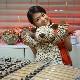 高級カシミヤ製テディベア。ヒョウ柄のジャイアント・ベア【60cm】