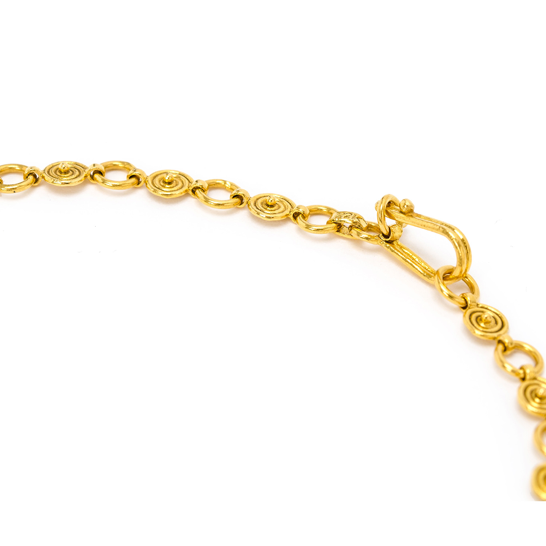ネックレス ローズカットダイヤ 20.091ct