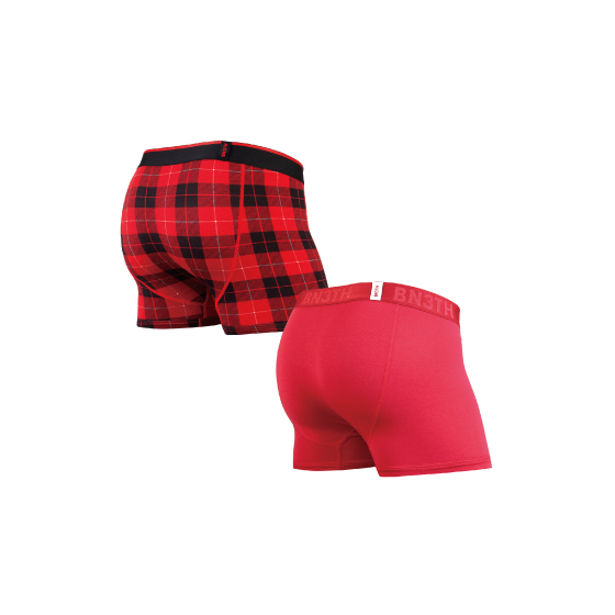 CLASSIC TRUNKS SOLID×PRINT 2PACK / CRIMSON FIRESIDE-PLAID RED( 2枚1SET)