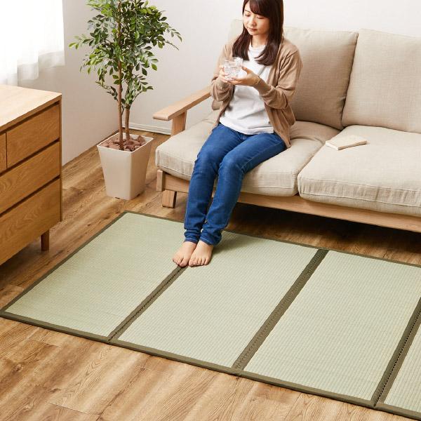 4つ折り い草の畳マットレス くらま【シングル】約幅100×長さ200×厚み1.1cm