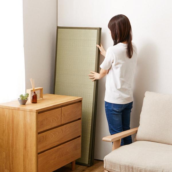 4つ折り い草の畳マットレス くらま【ダブル】約幅140×長さ200×厚み1.1cm
