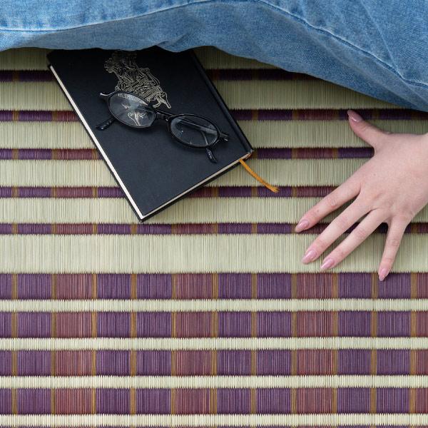 い草 上敷き 4.5畳 【掛川織り2柄】 約261×261cm 【江戸間4.5畳】【裏貼有】  (築彩)