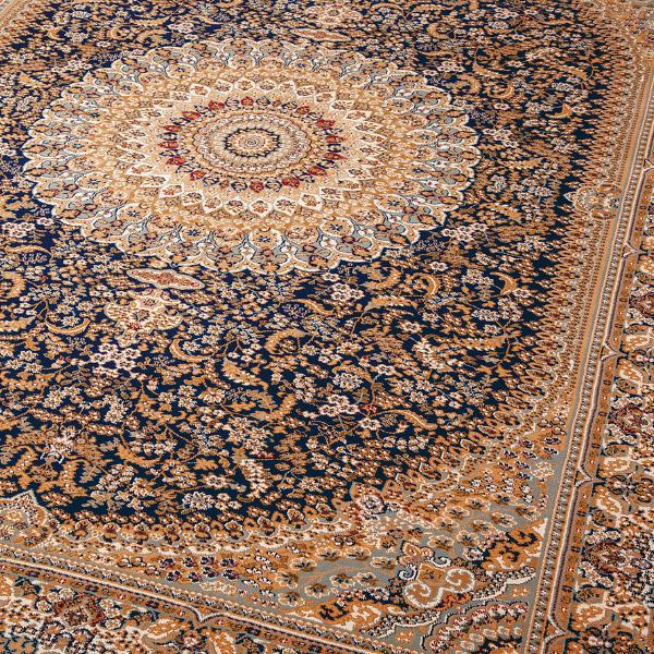 ラグ カーペット  ネシア 2915 約200×250cm【約3畳】絨毯 高級 メダリオン ナチュラル ウィルトン織