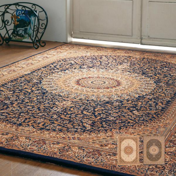 ラグ カーペット  ネシア 2915 約240×240cm【約4畳】絨毯 高級 大きいサイズ 大きめ ウィルトン織