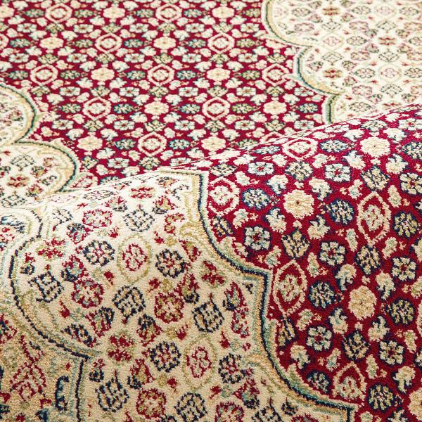 ラグ カーペット  マーヒ 14037 約195×195cm【約2.5畳】絨毯 高級 洋風 欧風 ヨーロッパ風 レーヨン モケット織