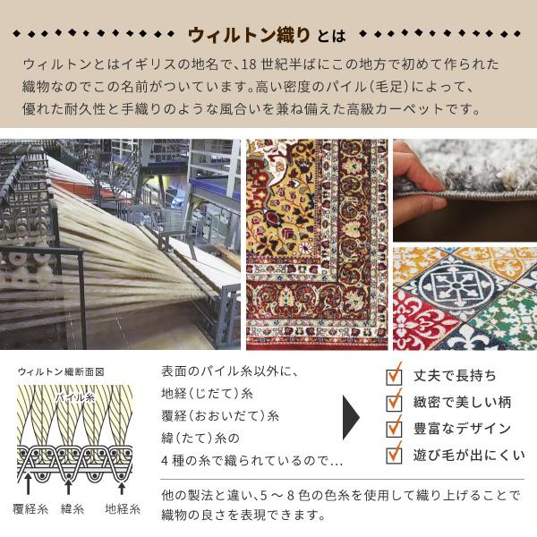 ウィルトン織マット インフィニティ レーヴ 約50×80cm