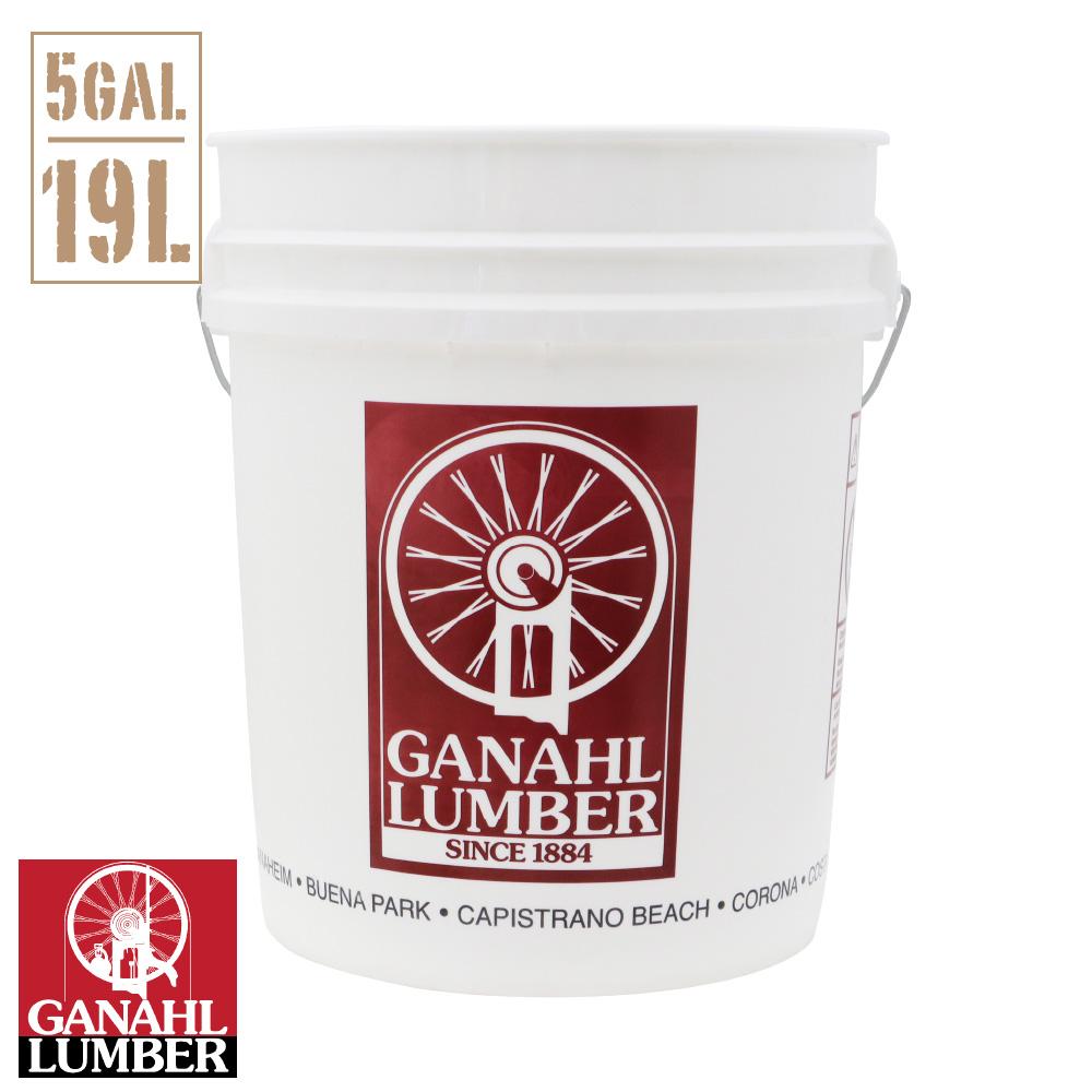 GANAHL LUMBER バケツ 5ガロン GANAHL LUMBER オリジナル 白 <br>約18.9リットル