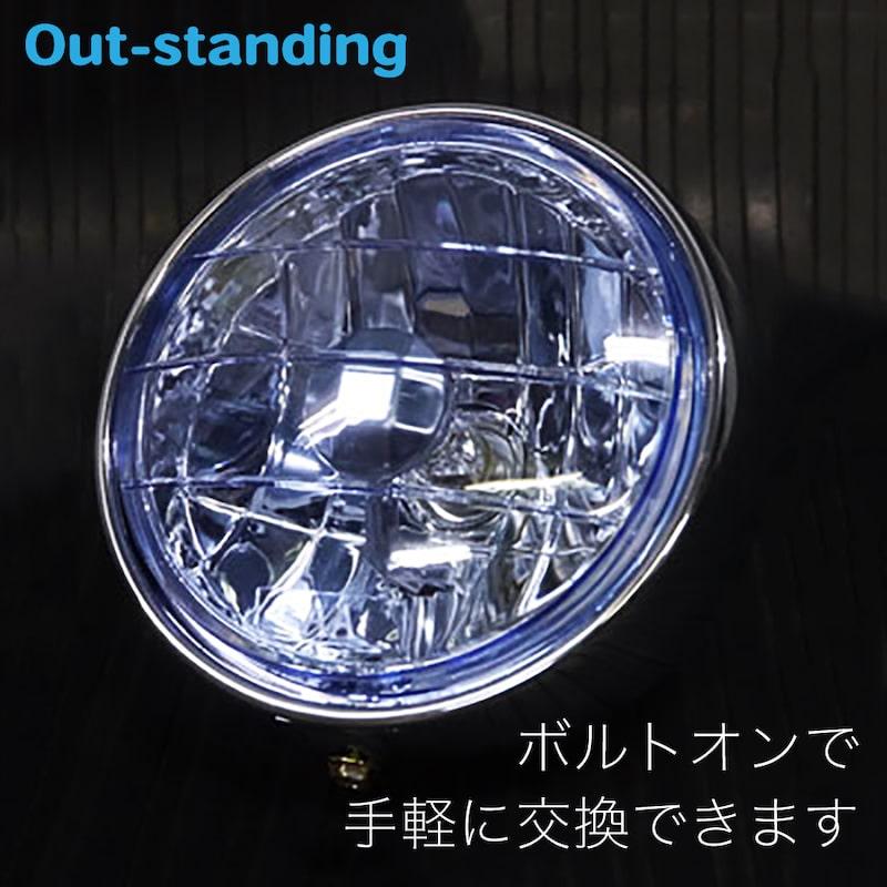 【DX・STD・リトルカブ用】 マルチリフレクターヘッドライト(ブルータイプ) ※JA07不可