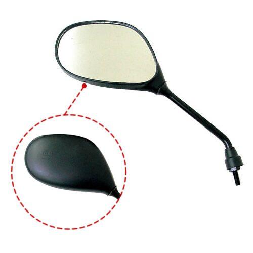 ミラックス18 黒楕円ミラー 左側専用 【正ネジ・10mm】