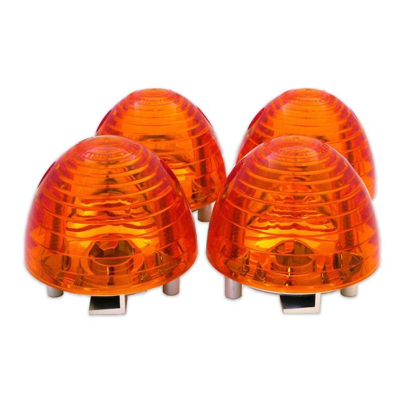 【JA07】スーパーカブ110専用<br>■砲弾型 オレンジ ウインカーレンズ(4個セット)