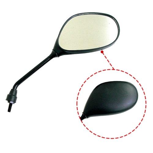 ミラックス17 黒楕円ミラー 右側専用 【正ネジ・10mm】