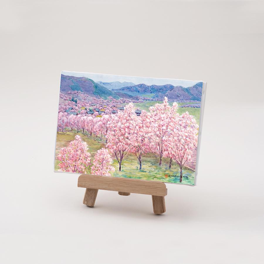 丸山晩霞プリントキャンバス「杏花の里」FSMサイズ