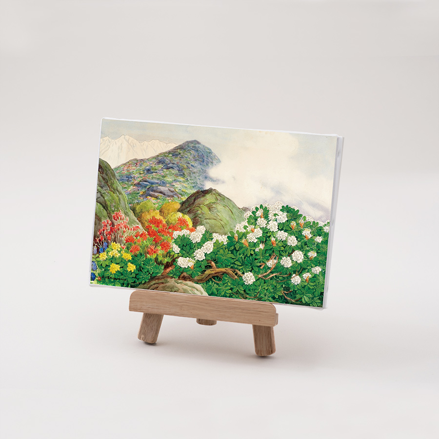 丸山晩霞プリントキャンバス「霧と石楠花」FSMサイズ
