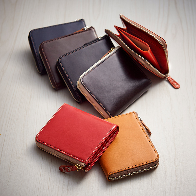 【レザージー/leather-g】イタリアンレザーコンパクト財布