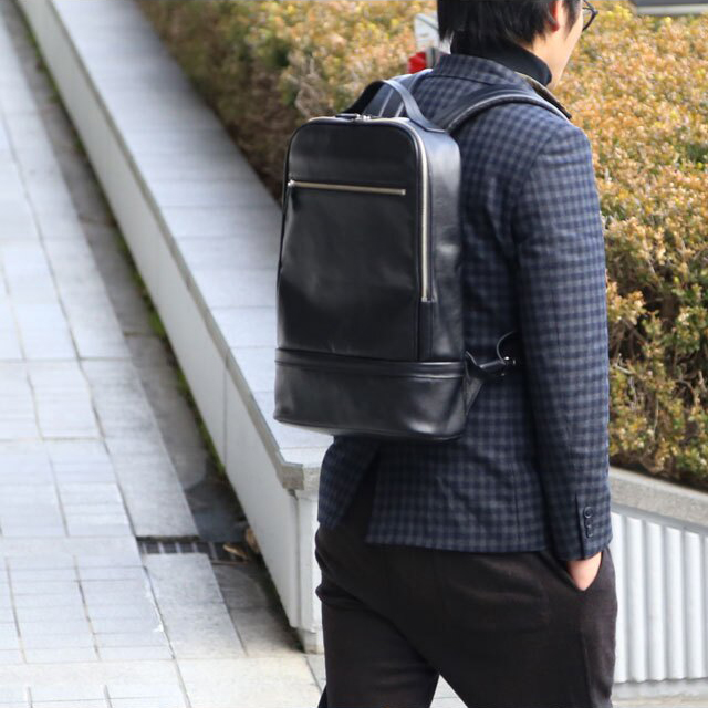 【anday/ナダヤ】本革ビジネスリュック
