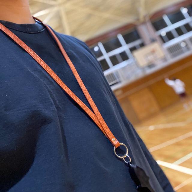 【レザージー/leather-g】バスケ革のネックストラップ