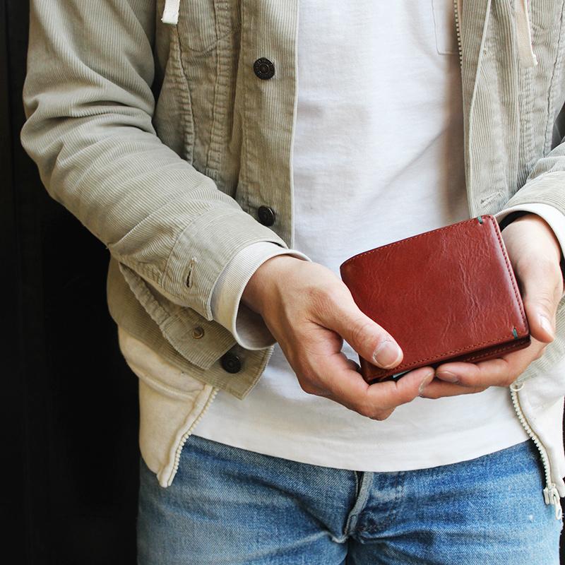 【レザージー/leather-g】イタリアンレザー二つ折り財布