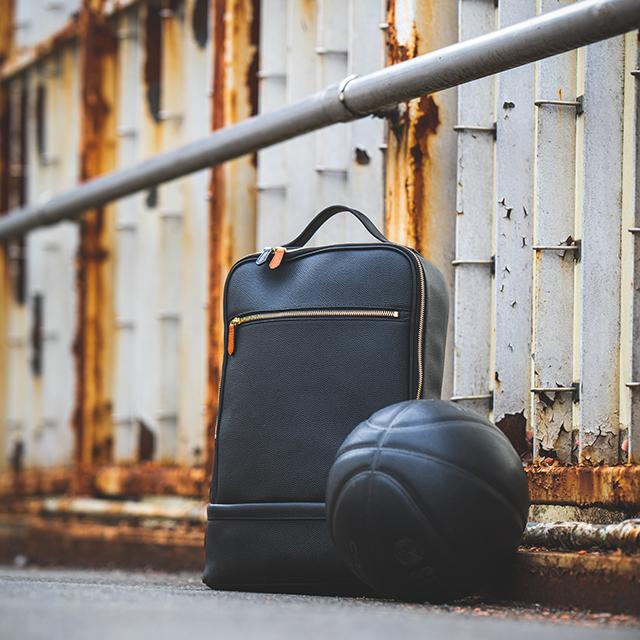 【レザージー/leather-g】バスケ革のリュック Black Edition メンズ レディース