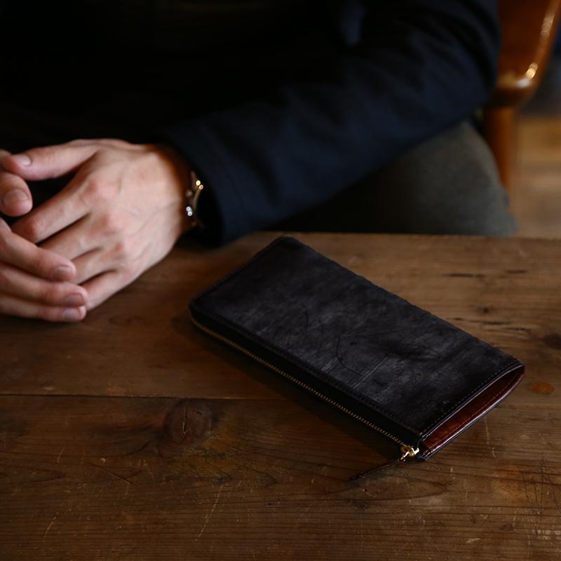 【レザージー/leather-g】ブライドルレザー長財布