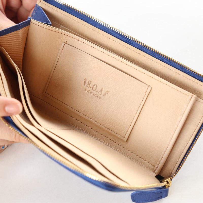 【S.O.A】イタリアンレザー長財布