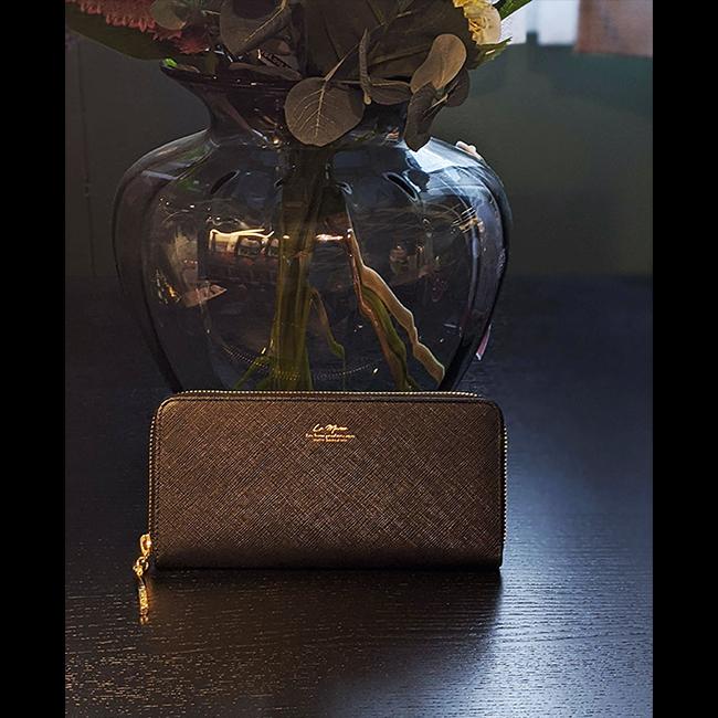 【ラマーレ/lamaree】サフィアーノレザーの長財布