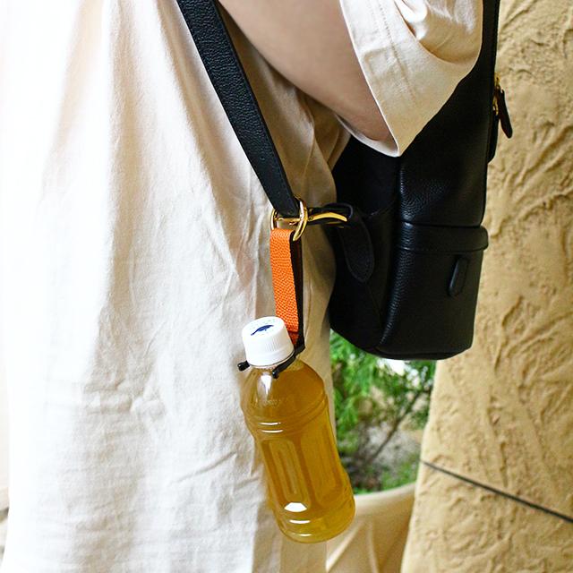 【レザージー/leather-g】バスケ革のペットボトルホルダー