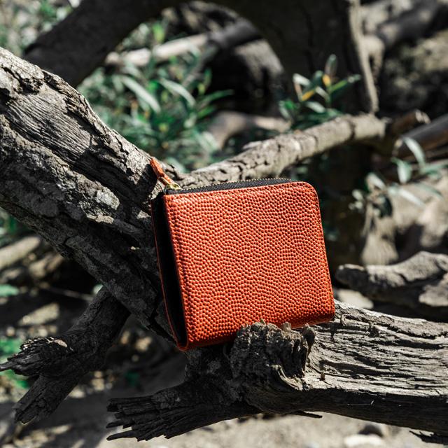 【レザージー/leather-g】バスケ革のコンパクト財布 メンズ レディース