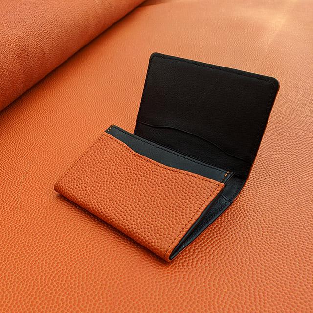 【レザージー/leather-g】バスケ革の名刺入れ
