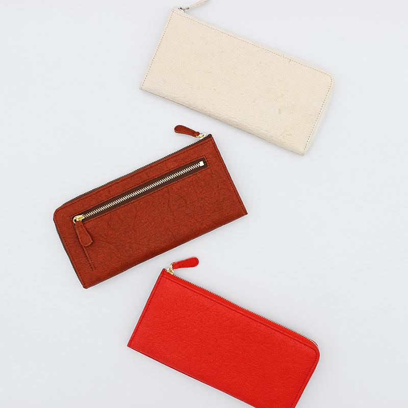 【レザージー/leather-g】パイナップルから作られた環境に優しい長財布 サステナブル sdgs