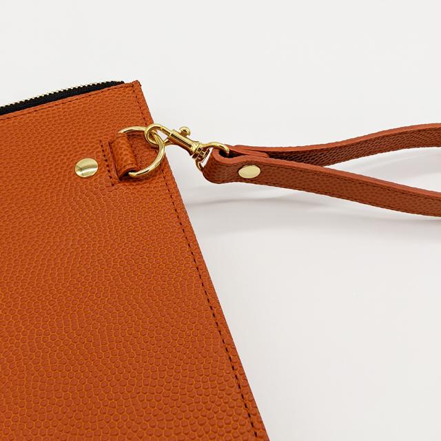 【レザージー/leather-g】バスケ革のクラッチバッグ