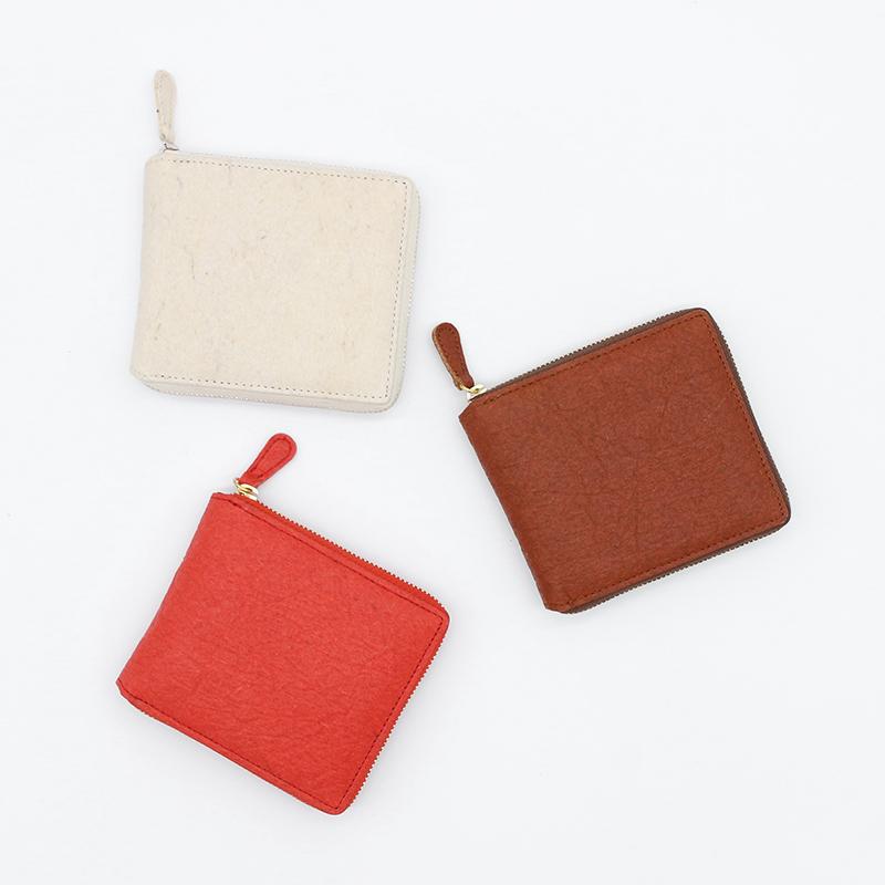 パイナップルから作られた二つ折り財布 サステナブル sdgs
