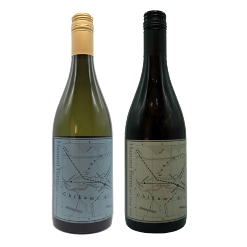 はすみふぁーむ シャルドネ1本+ピノ・ノアール1本 750ml×2 送料込 (沖縄別途590円)信州産 赤ワイン 白ワイン20歳未満の飲酒・販売は法律で禁止されています