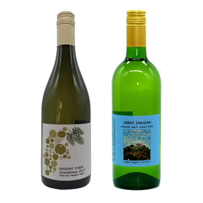 はすみふぁーむ 信州の甲州1本+シャルドネ1本セット 750ml×2 送料込 (沖縄別途590円)信州産白ワイン20歳未満の飲酒・販売は法律で禁止されています