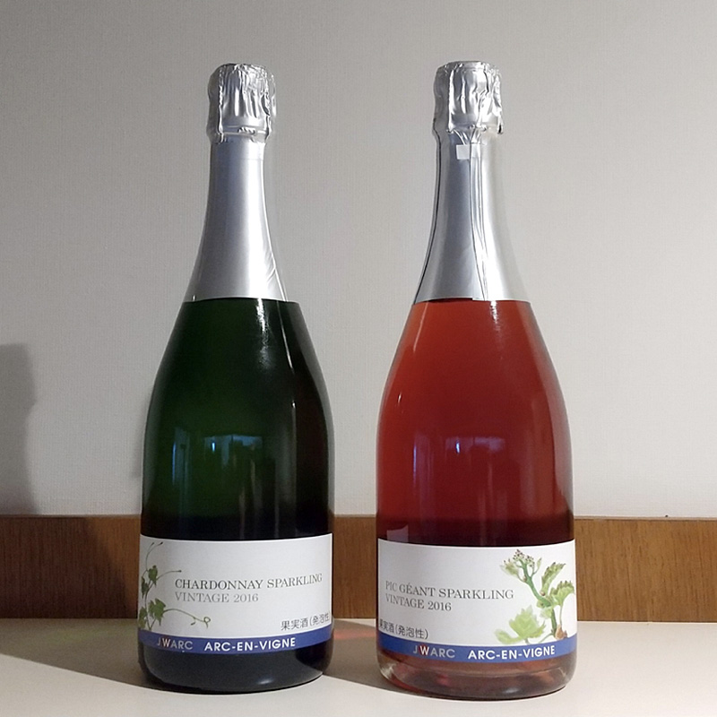 アルカンヴィーニュ スパークリングワイン2種セット 750ml×2 送料込 (沖縄別途590円)信州産 白ワイン ロゼワイン20歳未満の飲酒・販売は法律で禁止されています