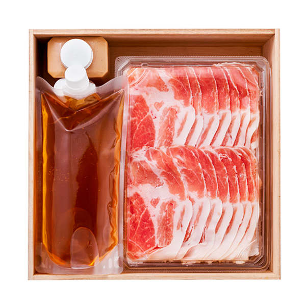 【Delica鐵扇】信州豚と信州野菜のコンソメとんしゃぶ(4人前) 送料込(沖縄・離島配送不可)