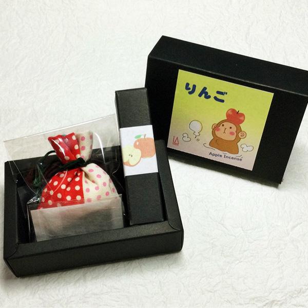 りんごの香りセット(線香・匂い袋・文香) 送料込(沖縄別途240円)