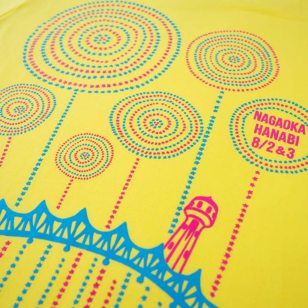 長生橋と花火Tシャツ