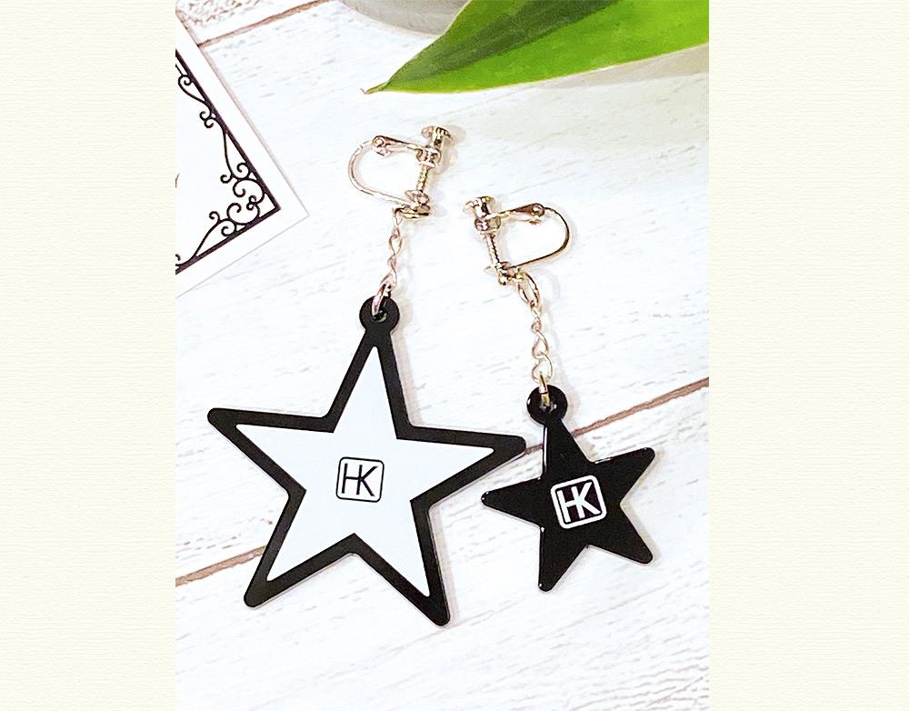 氷川きよし・衣装コラボ アクリルイヤリング(星)
