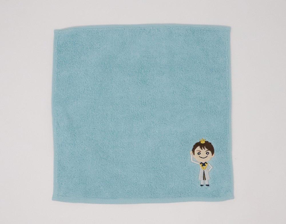 辰巳ゆうと・「ゆうと王子の大冒険」刺繍入りハンドタオル(ミントブルー)
