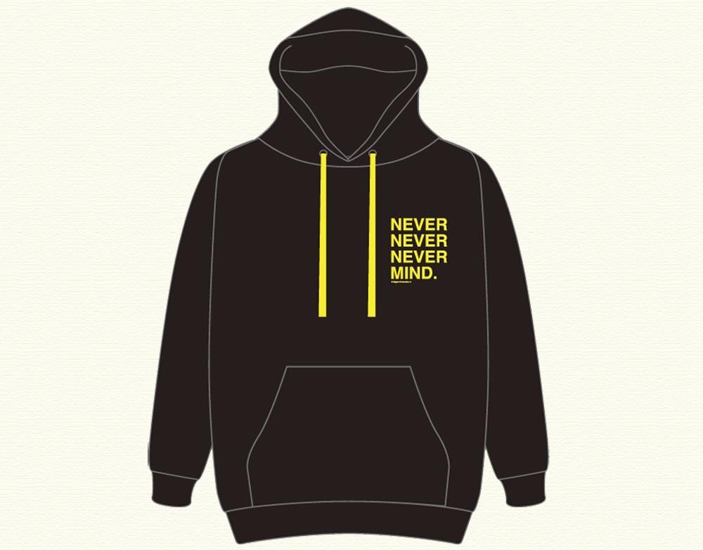 氷川きよし・NEVER NEVER NEVER MIND.ゆったりパーカー ブラック