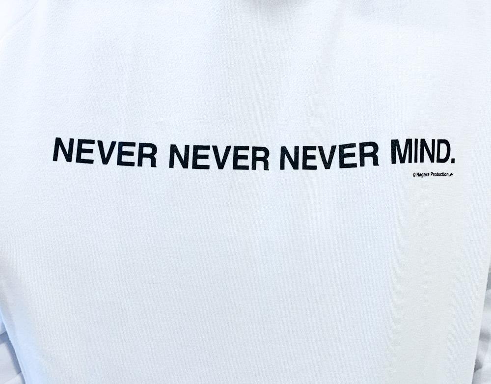 氷川きよし・NEVER NEVER NEVER MIND.ゆったりパーカー ホワイト
