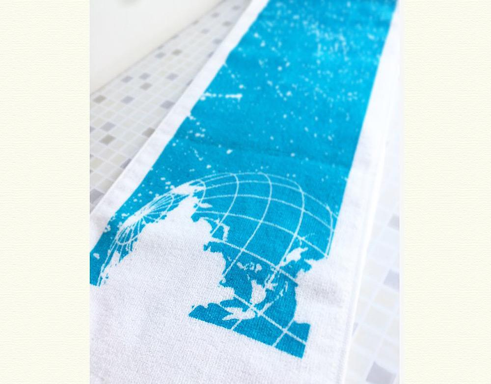 ささきいさお・「青い地球」マフラータオル