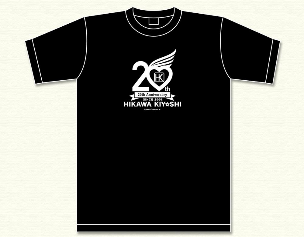 氷川きよし・20thロゴ Tシャツ(黒)