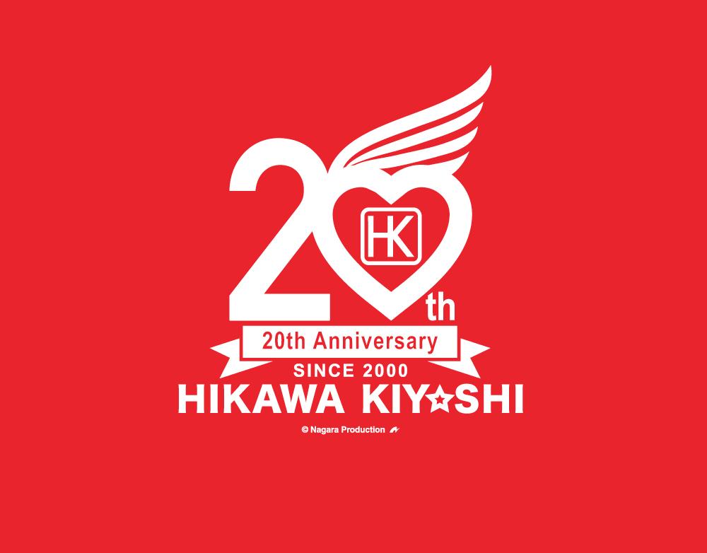 氷川きよし・20thロゴ Tシャツ(赤)