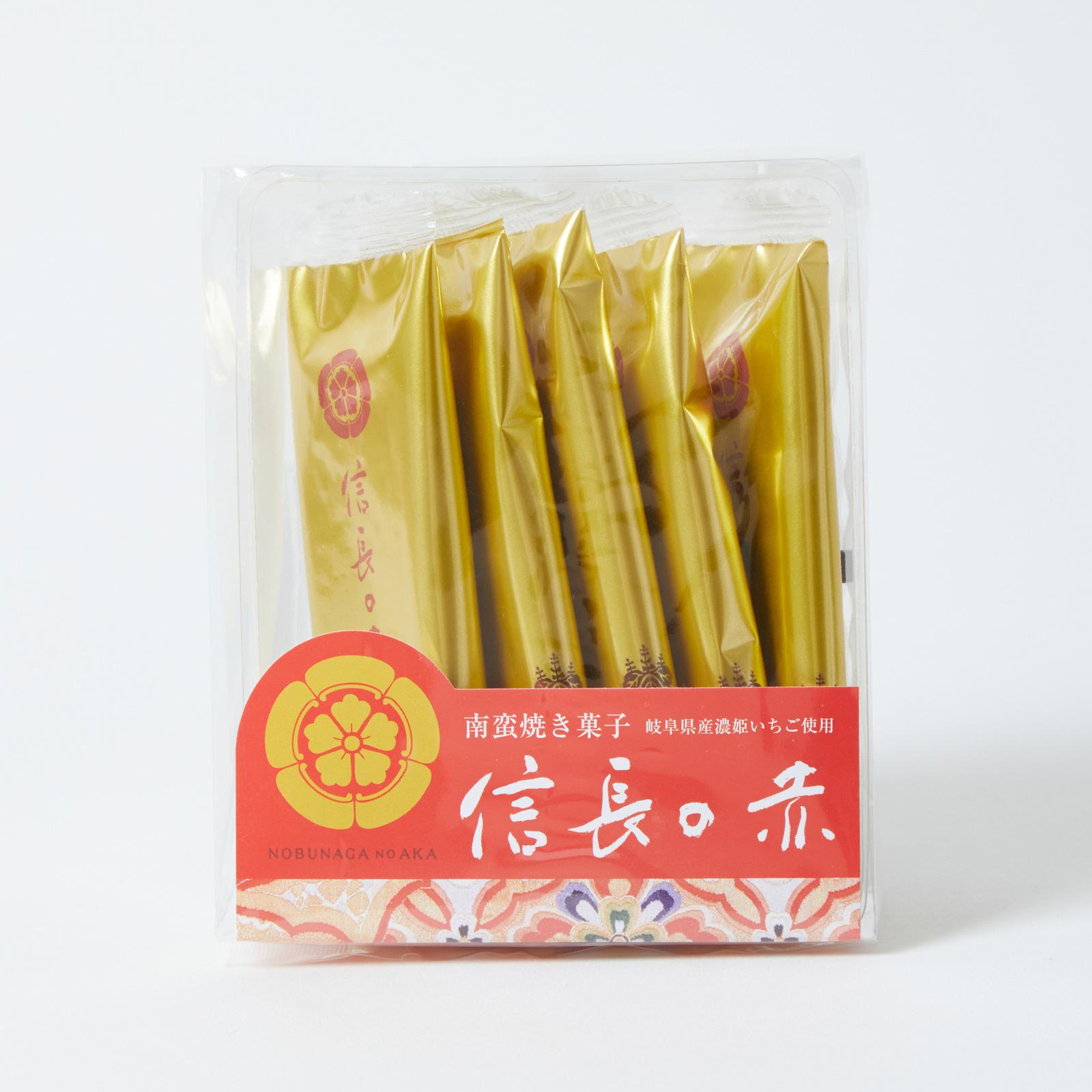 【信長の赤:5枚】岐阜県産の濃姫いちごを100%使った新食感の南蛮焼き菓子