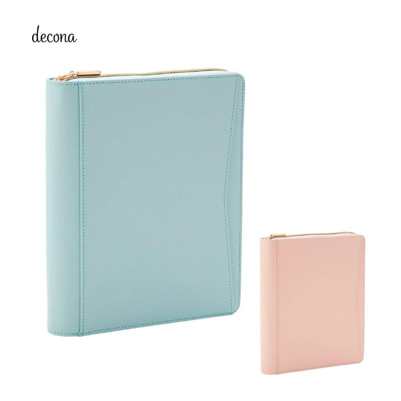 レイメイ decona デコナ システム手帳 A5 25mm ラウンドファスナー ミント/ピンク HDA6004